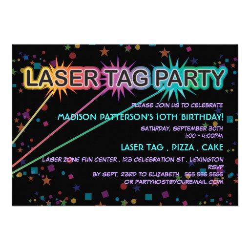 Laser-Umbau-Geburtstags-Party Einladung