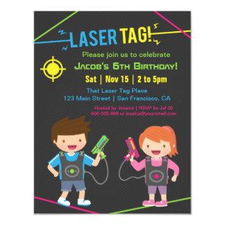 Laser-Umbau-Kindergeburtstag-Party Einladungen