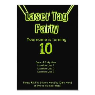 Laser-Umbau-Party-Grün-Einladung 12,7 X 17,8 Cm Einladungskarte