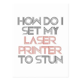 Laserdrucker Postkarte