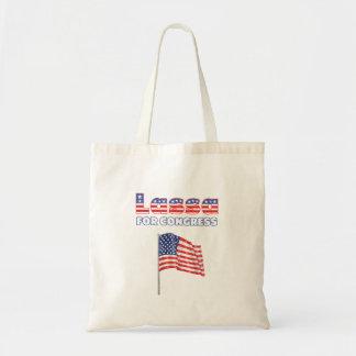 Lassa für Kongress-patriotische amerikanische Flag Einkaufstasche