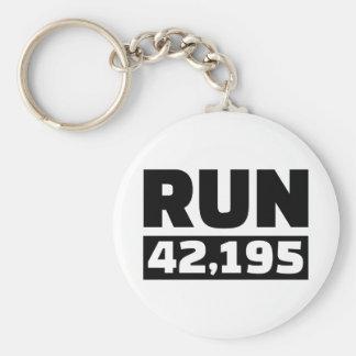 Lassen Sie 42 Kilometer Marathon laufen Schlüsselanhänger