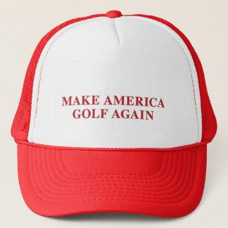 Lassen Sie Amerika wieder Golf spielen Truckerkappe
