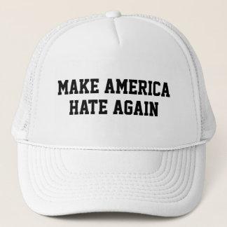 Lassen Sie Amerika wieder hassen Truckerkappe