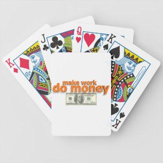 Lassen Sie Arbeit Geld tun Bicycle Spielkarten