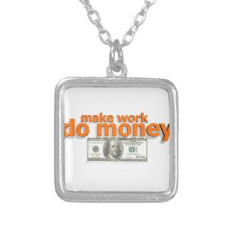 Lassen Sie Arbeit Geld tun Versilberte Kette