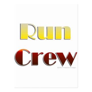 Lassen Sie Crew laufen (nur Text) Postkarte