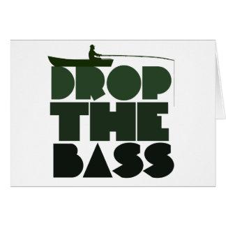 Lassen Sie den BASS-Fischen-Spaß fallen Grußkarte