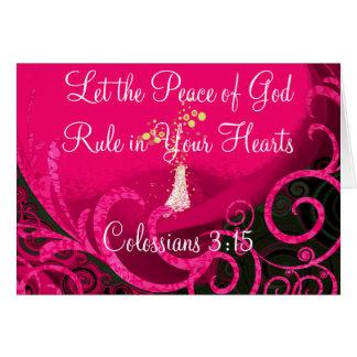 Lassen Sie den Frieden des Gottes in Ihren Herzen Karte