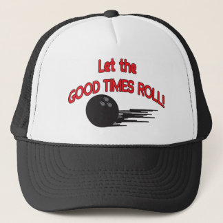 Lassen Sie den guten lustigen Bowling des Truckerkappe