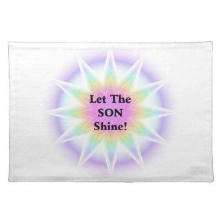 Lassen Sie den Sohn glänzen Stofftischset