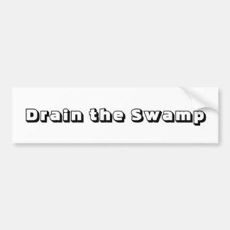 Lassen Sie den Sumpf ab Autoaufkleber
