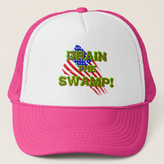 LASSEN SIE DEN SUMPF AB! mit amerikanischer Truckerkappe