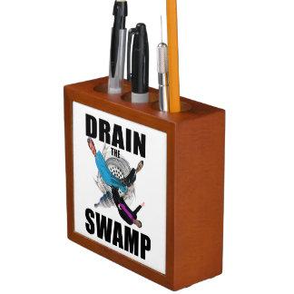 Lassen Sie den Sumpf-Präsidenten Trump Desk Stifthalter