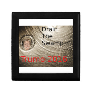 Lassen Sie den Sumpf Trumpf-Clinton politischen Schmuckschachtel