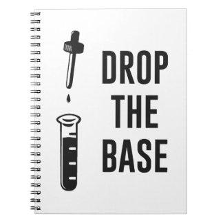 Lassen Sie die Bass-Chemie-Basis fallen Notizbücher