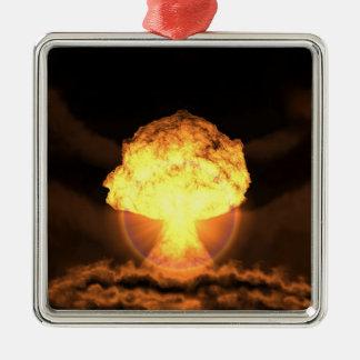 Lassen Sie die Bombe fallen Silbernes Ornament