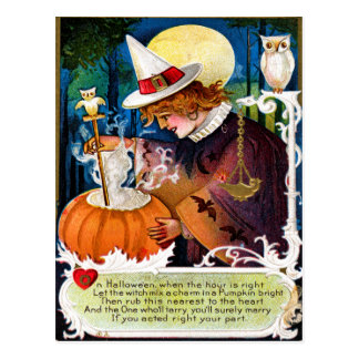 Lassen Sie die Hexe eine Charme-Postkarte mischen Postkarte