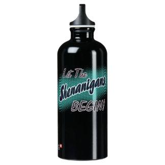Lassen Sie die Shenanigans anfangen! Aluminiumwasserflasche
