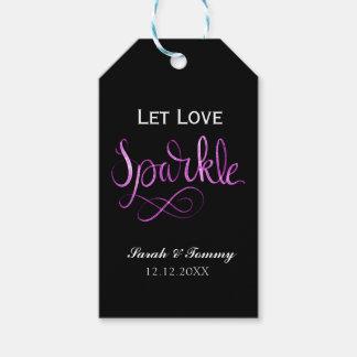 Lassen Sie die wedding Liebescheinumbauten oder Geschenkanhänger