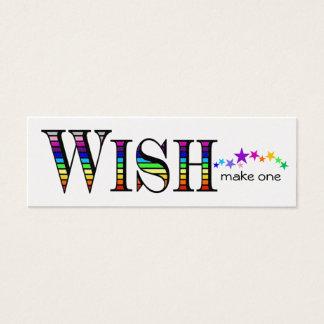 Lassen Sie einen Regenbogen wünschen Mini Visitenkarte
