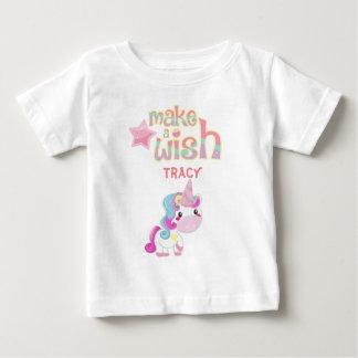 Lassen Sie einen Wunsch Unicorn-Party-Cartoon Baby T-shirt