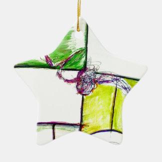 Lassen Sie Freiheits-Herrschaft im Tanz des Keramik Stern-Ornament