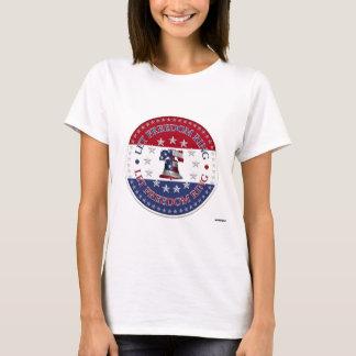 Lassen Sie Freiheits-Ring-Freiheit runde Bell 13 T-Shirt