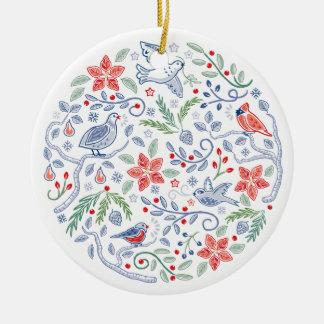 Lassen Sie Himmel und Natur Weihnachtsverzierung Keramik Ornament