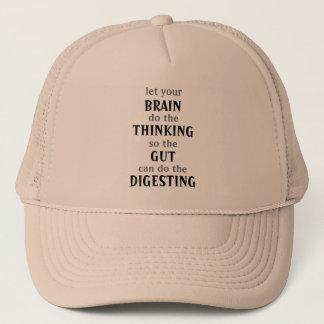 Lassen Sie Ihr Gehirn Hut denken Truckerkappe