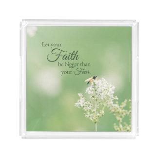 """""""Lassen Sie Ihre Glauben-… """"christliches Acryl Tablett"""