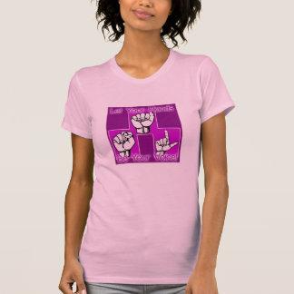 Lassen Sie Ihre Hände Ihr Sprachrosa-Shirt sein T-Shirt