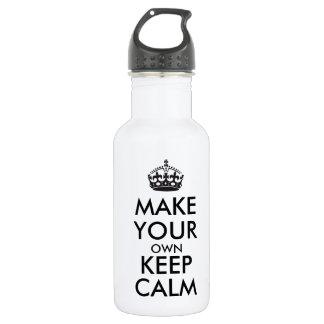 Lassen Sie Ihre Selbst Ruhe behalten - Schwarzes Trinkflasche