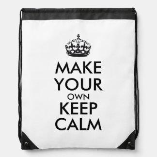 Lassen Sie Ihre Selbst Ruhe behalten - Schwarzes Turnbeutel