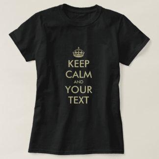 Lassen Sie Ihre Selbst ruhige T-Shirt Parodie