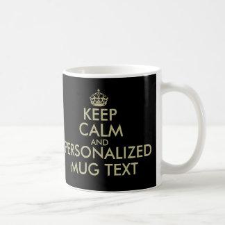 Lassen Sie Ihre Selbst ruhiges Imitatgold der Tasse