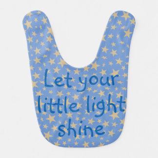 Lassen Sie Ihre wenigen hellen blauen Babylätzchen