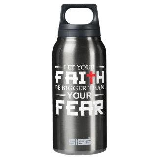 Lassen Sie Ihren Glauben, der als Isolierte Flasche