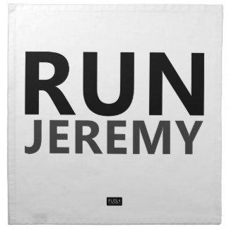 Lassen Sie Jeremy laufen Stoffserviette