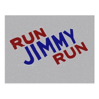 Lassen Sie Jimmy-Lauf laufen Postkarte