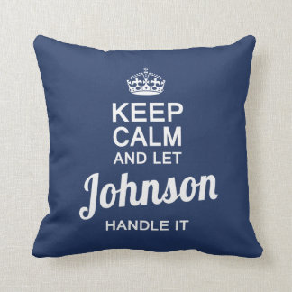 Lassen Sie JOHNSON es behandeln! Kissen