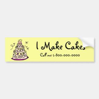 Lassen Sie Kuchen bestellen Autoaufkleber
