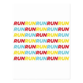 Lassen Sie Lauflauf laufen Postkarte