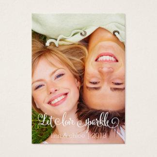 Lassen Sie Liebe funkeln Bevorzugungs-Umbauten Jumbo-Visitenkarten