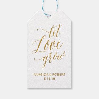 Lassen Sie Liebe Gastgeschenk Hochzeits-Umbau Geschenkanhänger