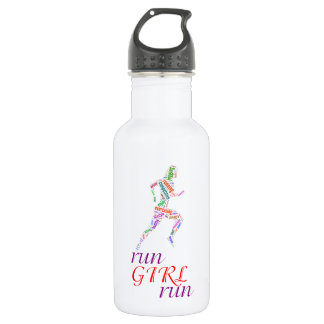 Lassen Sie Mädchen laufen, laufen Sie Edelstahlflasche