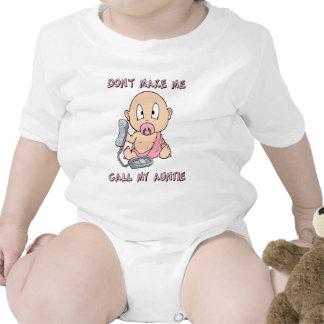 Lassen Sie mich nicht meine Tante anrufen Baby Strampelanzug