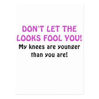 Lassen Sie nicht den Blick-Dummkopf Sie, die meine Postkarte