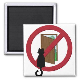 Lassen Sie nicht den Türmagneten der Katze heraus Quadratischer Magnet