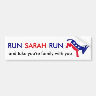Lassen Sie Sarah-Lauf laufen Autoaufkleber